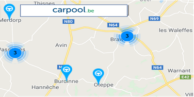 Plateforme Carpool (covoiturage)
